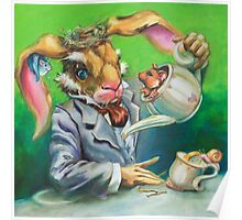 March Hare at the Tea Party Poster