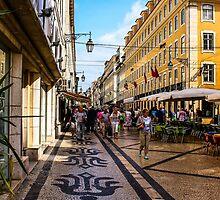 Rua Augusta, Lisbon by Wrayzo