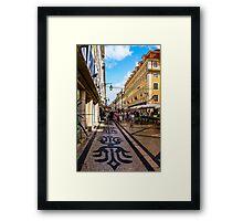 Rua Augusta, Lisbon Framed Print