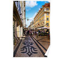 Rua Augusta, Lisbon Poster