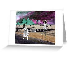 Moon Tennis Greeting Card