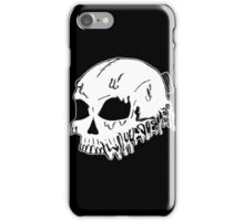 Dripping With Sarcasm - White Skull iPhone Case/Skin
