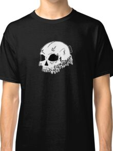 Dripping With Sarcasm - White Skull Classic T-Shirt