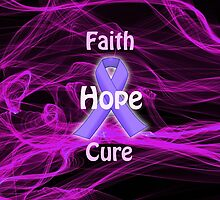 Purple Ribbon Awareness by Edmond  Hogge