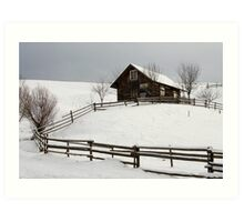old house and fence Art Print