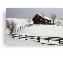 old house and fence Canvas Print