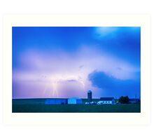 Colorado Country Lightning Storm Art Print