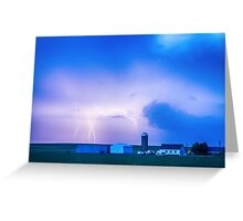 Colorado Country Lightning Storm Greeting Card