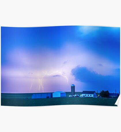 Colorado Country Lightning Storm Poster