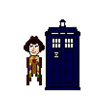 Fourth Doctor Pixel Art Photographic Print