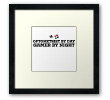 Optometrist gamer Framed Print