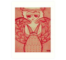 pink sherry Art Print