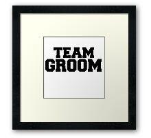 TEAM GROOM Framed Print