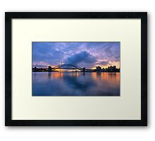 True Blue - Moods of A City - The HDR Experience Framed Print
