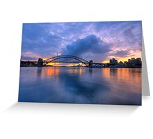 True Blue - Moods of A City - The HDR Experience Greeting Card