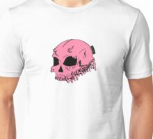 Dripping With Sarcasm - Pink Skull Unisex T-Shirt