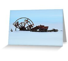 The Ozone Wreck - Indented Heads Bellarine Peninsula Greeting Card