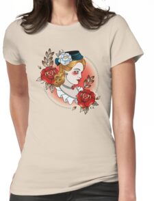 Victorian Lady Womens Fitted T-Shirt