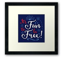 It's Fun to Be Free: Inspired by World of Motion Framed Print