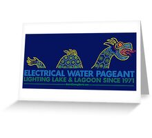 Retro Walt Disney World Electrical Water Pageant Greeting Card