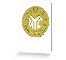 Made In New York Greeting Card
