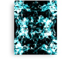 Electrifying blue sparkly triangle flames Canvas Print
