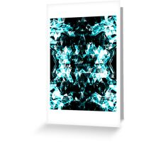 Electrifying blue sparkly triangle flames Greeting Card