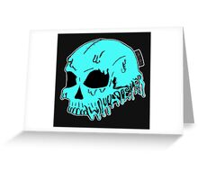Dripping With Sarcasm - Turquoise Skull Greeting Card