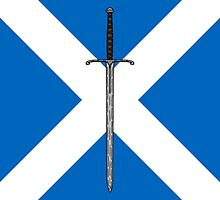 Bruce Sword on Saltire  by Richard Fay