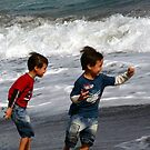 Wave Dodging, Ted and Mike by Digby