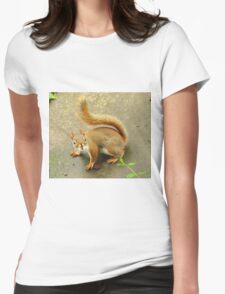 Scene From A Medieval Tapestry ~ With Red Squirrel Womens Fitted T-Shirt