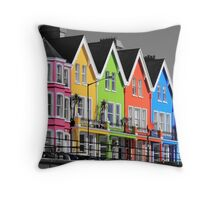 Psychedelic Terrace Throw Pillow