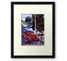 Pink Cheeks and Red Cray Framed Print