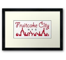 Fruitcake City Framed Print