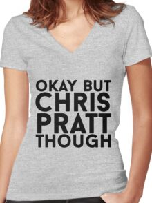 Chris Pratt Women's Fitted V-Neck T-Shirt