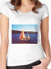 Red Sails In Broad Daylight ~ Loch Ness Women's Fitted Scoop T-Shirt
