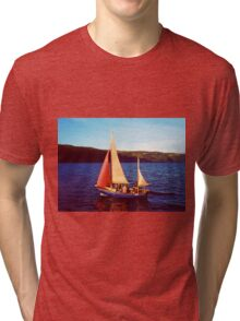 Red Sails In Broad Daylight ~ Loch Ness Tri-blend T-Shirt