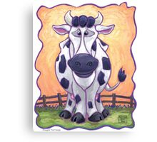 Animal Parade Cow Canvas Print