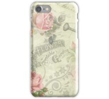 Vintage Rose Garden iPhone Case/Skin