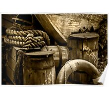 Wood, Barrels and Rope at Busch Gardens Poster