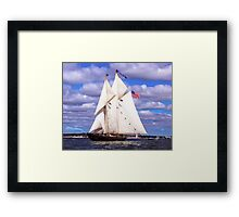 Full Sails Ahead Framed Print