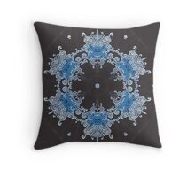 Ice Bison Throw Pillow