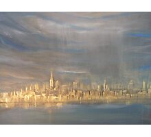 After the Rain- NYC view from Sandy Hook  Photographic Print