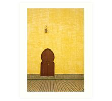 The Mausoleum of Moulay Ismail Art Print