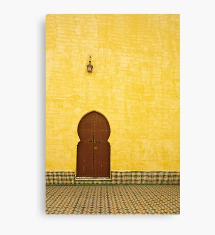 The Mausoleum of Moulay Ismail Canvas Print
