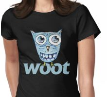 WOOT blue owl Womens Fitted T-Shirt