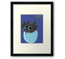 Baby Toothless Framed Print