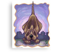 Animal Parade Hound Dog Canvas Print