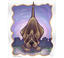 Animal Parade Hound Dog Poster