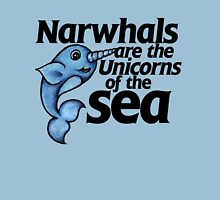 Narwhals are unicorns of the sea Womens Fitted T-Shirt
